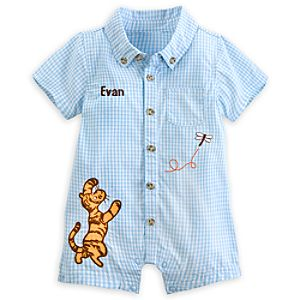 Tigger Classic Woven Romper for Baby - Personalizable