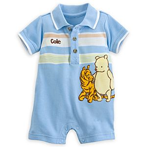 Winnie the Pooh and Tigger Classic Polo Romper for Baby - Personalizable