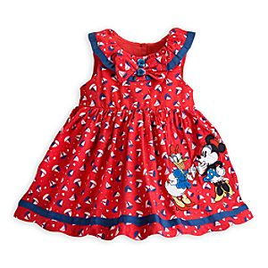 Minnie Mouse and Daisy Duck Woven Dress for Baby