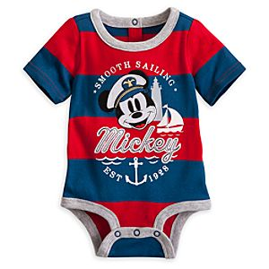 Mickey Mouse Nautical Disney Cuddly Bodysuit for Baby