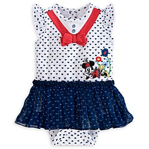 Minnie Mouse Sailor Disney Cuddly Bodysuit for Baby