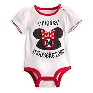 Minnie Mouse Mouseketeer Disney Cuddly Bodysuit for Baby