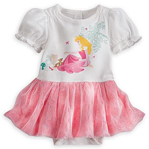 Aurora Disney Cuddly Bodysuit with Tutu for Baby