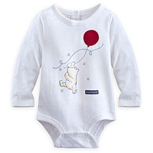 Winnie the Pooh Long Sleeve Disney Cuddly Bodysuit for Baby