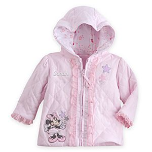 Minnie Mouse Quilted Hoodie for Baby - Personalizable