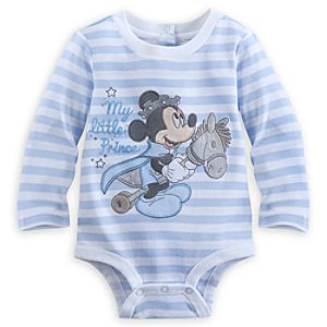 Mickey Mouse Long Sleeve Disney Cuddly Bodysuit for Baby