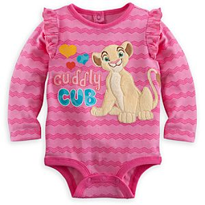Nala Long Sleeve Disney Cuddly Bodysuit for Baby