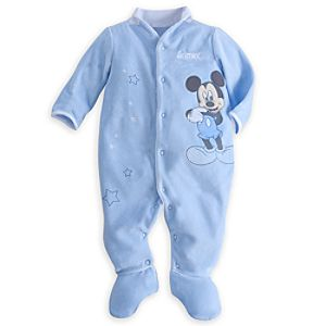 Mickey Mouse Velour Romper for Baby - Personalizable
