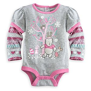 Winnie the Pooh and Piglet Disney Cuddly Bodysuit for Baby