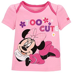 Too Cute Minnie Mouse Tee for Infant Girls