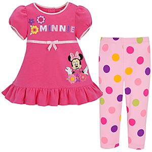Minnie Mouse Dress Set for Infant Girls -- 2-Pc.