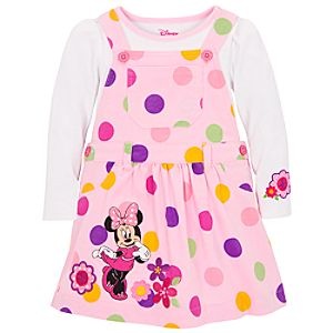 Minnie Mouse Jumper Set for Infant Girls -- 2-Pc.