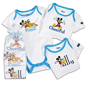 Mickey Mouse Bodysuit Set for Babies -- 3-Pc. -- Made With Organic Cotton