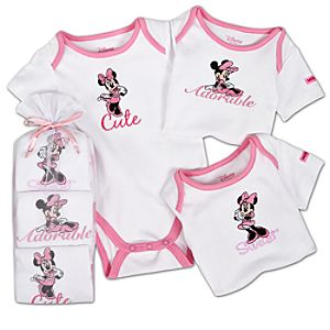 Minnie Mouse Bodysuit Set for Baby Girls -- 3-Pc. -- Made With Organic Cotton