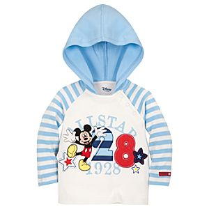 Organic Cotton All-Star Mickey Mouse Hooded Tee for Infants