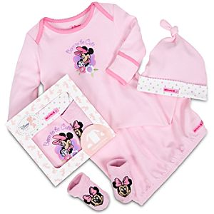 Minnie Mouse Gown Set for Baby Girls -- 3-Pc.