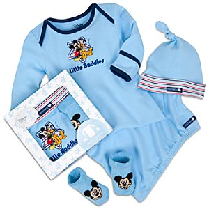 Mickey Mouse Gown Set for Infants -- 3-Pc.