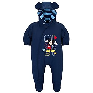 Hooded Mickey Mouse Snowsuit for Baby Boys