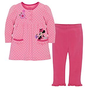 Minnie Mouse Dress and Legging Set for Baby Girls -- 2-Pc. -- Made With Organic Cotton