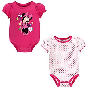 Minnie Mouse Bodysuit Set for Baby Girl -- 2-Pc.