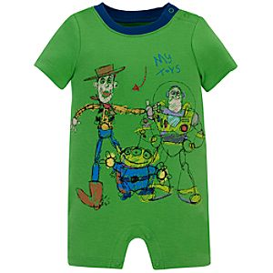 Toy Story Tiny Tee Coverall for Baby Boy