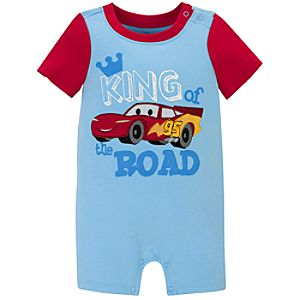 Lightning McQueen Tiny Tee Coverall for Baby Boy