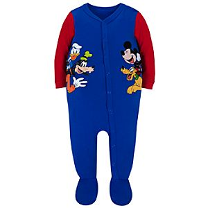Personalizable Mickey Mouse and Friends Stretchie for Baby Boys