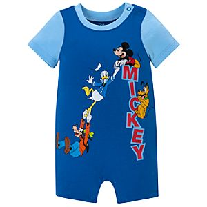 Mickey Mouse and Friends Tiny Tee Coverall for Baby Boy