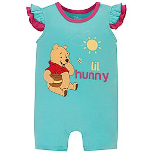 Winnie the Pooh Tiny Tee Coverall for Baby Girl