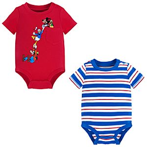 Mickey Mouse and Friends Bodysuit Set for Baby Boy -- 2-Pc.