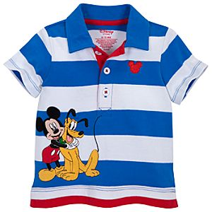 Pluto and Mickey Mouse Polo for Baby Boys