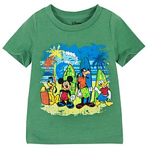 Surfing Mickey Mouse and Friends Tee for Toddler Boys