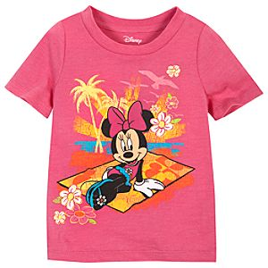 Summer Brights Minnie Mouse Tee for Toddler Girls