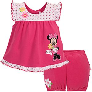 Ruffled Minnie Mouse Dress Set for Baby Girl -- 2-Pc.