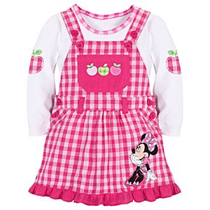 Minnie Mouse Jumper Set for Baby Girls -- 2-Pc.