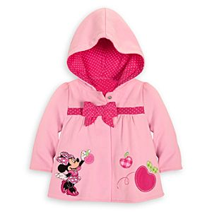 Personalizable Hooded Minnie Mouse Jacket for Baby Girls