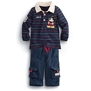 Mickey Mouse Shirt and Pants Set for Baby - Personalizable