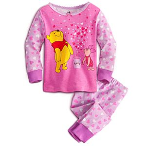 Winnie the Pooh and Piglet PJ Pal for Baby - Pink