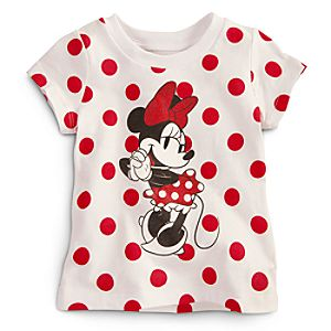 Minnie Mouse Tee for Baby - Red