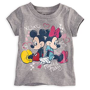 Mickey and Minnie Mouse Tee for Baby