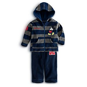 Mickey Mouse Fleece Jacket and Pants Set for Baby - Personalizable 2-Pc.