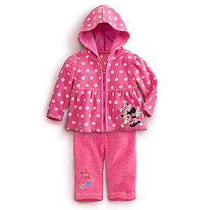 Minnie Mouse Hooded Fleece Jacket and Pants Set for Baby - 2-Pc.