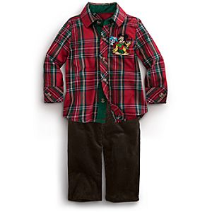 Mickey Mouse Shirt and Pants Set for Baby - Holiday 2-Pc.