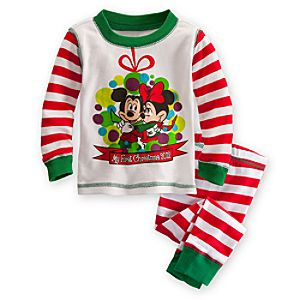 Minnie and Mickey Mouse PJ Pal for Baby - Holiday