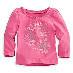 Cinderella Sparkling Top for Baby - Long Sleeve