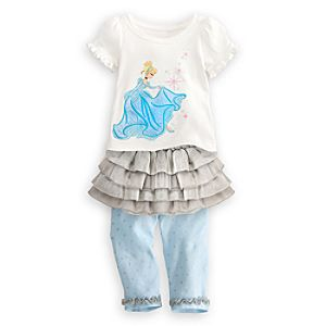 Cinderella Shirt and Skirt with Leggings Set for Baby -- 3-Pc.