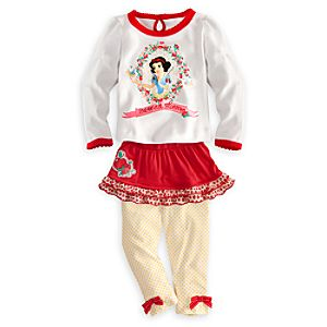 Snow White Shirt, Skirt and Leggings Set for Baby