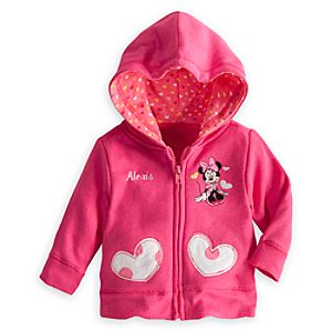 Minnie Mouse Hooded Jacket for Baby - Personalized