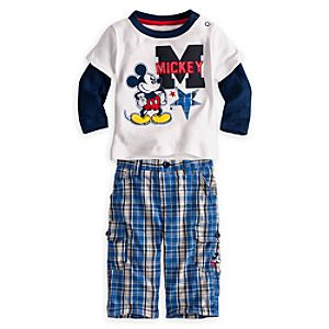 Mickey Mouse Shirt and Pants Set for Baby