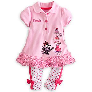 Minnie Mouse Polo Dress and Leggings Set for Baby - Personalizable